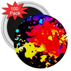 Colorfulpaintsptter 3  Magnets (100 Pack)