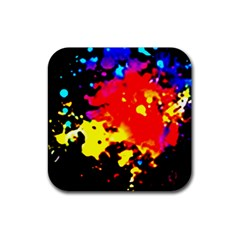 Colorfulpaintsptter Rubber Square Coaster (4 Pack)