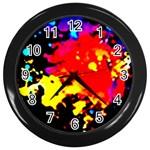 Colorfulpaintsptter Wall Clocks (Black)
