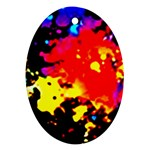 Colorfulpaintsptter Ornament (Oval)