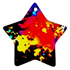 Colorfulpaintsptter Star Ornament (two Sides)