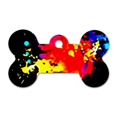 Colorfulpaintsptter Dog Tag Bone (two Sides)