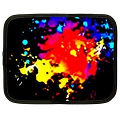 Colorfulpaintsptter Netbook Case (large)