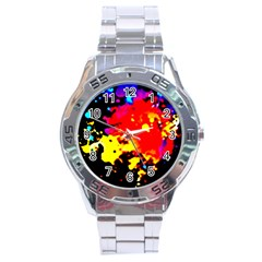 Colorfulpaintsptter Stainless Steel Analogue Watch