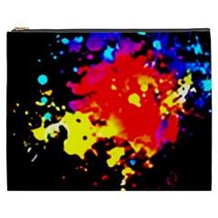 Colorfulpaintsptter Cosmetic Bag (xxxl)