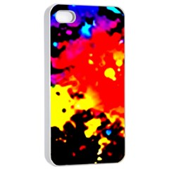 Colorfulpaintsptter Apple Iphone 4/4s Seamless Case (white)