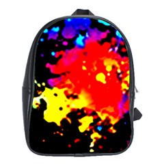 Colorfulpaintsptter School Bag (xl)