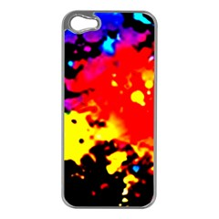 Colorfulpaintsptter Apple Iphone 5 Case (silver)