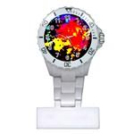 Colorfulpaintsptter Plastic Nurses Watch