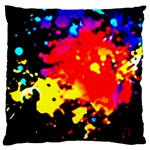Colorfulpaintsptter Large Flano Cushion Case (Two Sides)