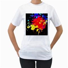 Colorfulpaintsptter Women s T Shirt (white)