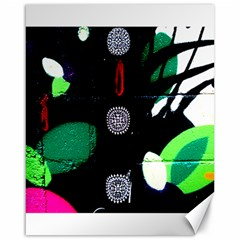 Graffiti On Green And Pink Designs Canvas 16  X 20