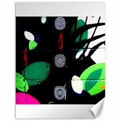 Graffiti On Green And Pink Designs Canvas 18  X 24