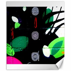 Graffiti On Green And Pink Designs Canvas 20  X 24