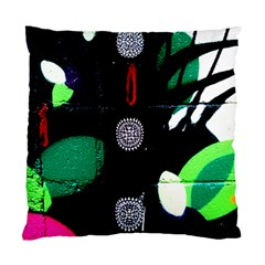 Graffiti On Green And Pink Designs Standard Cushion Case (two Sides)