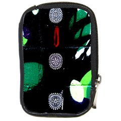 Graffiti On Green And Pink Designs Compact Camera Cases