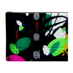 Graffiti On Green And Pink Designs Cosmetic Bag (xl)