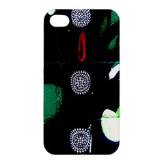 Graffiti On Green And Pink Designs Apple Iphone 4/4s Premium Hardshell Case