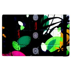 Graffiti On Green And Pink Designs Apple Ipad 3/4 Flip Case by flipstylezdes