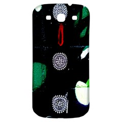 Graffiti On Green And Pink Designs Samsung Galaxy S3 S Iii Classic Hardshell Back Case