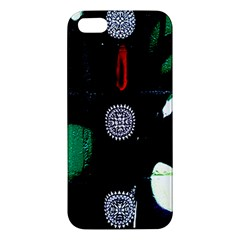 Graffiti On Green And Pink Designs Apple Iphone 5 Premium Hardshell Case
