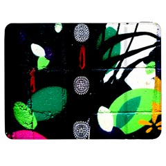 Graffiti On Green And Pink Designs Samsung Galaxy Tab 7  P1000 Flip Case