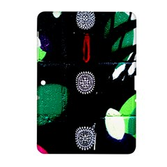 Graffiti On Green And Pink Designs Samsung Galaxy Tab 2 (10 1 ) P5100 Hardshell Case