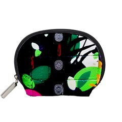Graffiti On Green And Pink Designs Accessory Pouches (small)