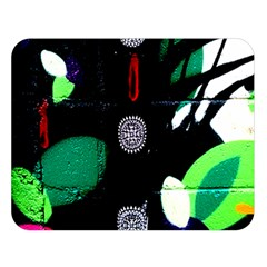 Graffiti On Green And Pink Designs Double Sided Flano Blanket (large)  by flipstylezdes