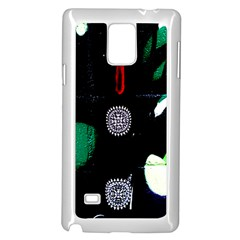 Graffiti On Green And Pink Designs Samsung Galaxy Note 4 Case (white)