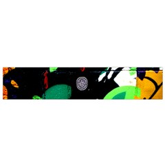 Graffiti On Green And Pink Designs Small Flano Scarf