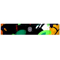 Graffiti On Green And Pink Designs Large Flano Scarf