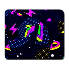 Background Designs Cool Zig Zags Large Mousepads