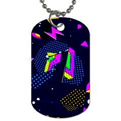 Background Designs Cool Zig Zags Dog Tag (two Sides)
