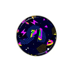 Background Designs Cool Zig Zags Hat Clip Ball Marker (10 Pack)