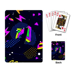 Background Designs Cool Zig Zags Playing Card