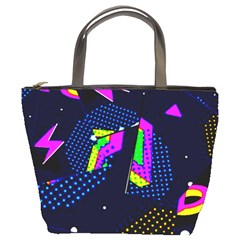 Background Designs Cool Zig Zags Bucket Bags