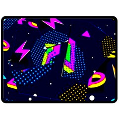 Background Designs Cool Zig Zags Double Sided Fleece Blanket (large)