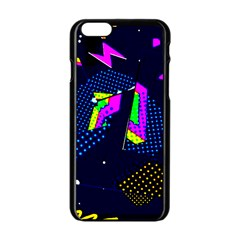 Background Designs Cool Zig Zags Apple Iphone 6/6s Black Enamel Case by flipstylezdes