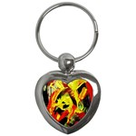 Fish And Bread1/1 Key Chains (Heart)  Front