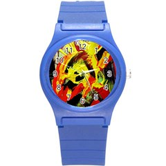 Fish And Bread1/1 Round Plastic Sport Watch (s) by bestdesignintheworld