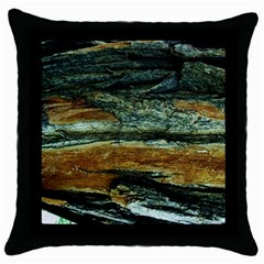 Tree In Highland Park Throw Pillow Case (black)