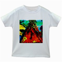 Camping 5 Kids White T Shirts