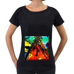 Camping 5 Women s Loose Fit T Shirt (black)