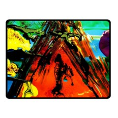 Camping 5 Double Sided Fleece Blanket (small)