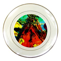 Camping 5 Porcelain Plates by bestdesignintheworld