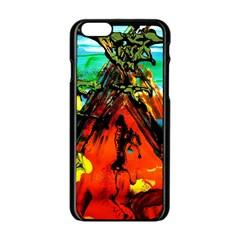 Camping 5 Apple Iphone 6/6s Black Enamel Case
