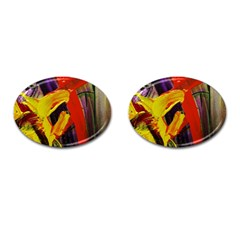 Fish And Bread1/2 Cufflinks (oval)