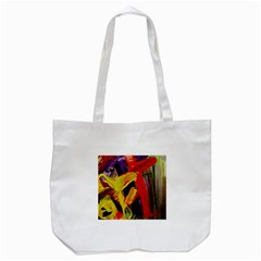 Fish And Bread1/2 Tote Bag (white)