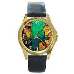 Young Witches Round Gold Metal Watch